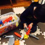 【2歳のクリスマス】学研 ニューブロック 工具セット♪