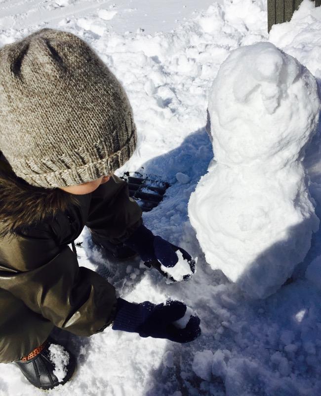 2人で雪遊び〜〜