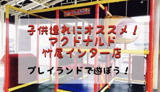 子供連れにオススメ!遊び場のあるマクドナルド 新潟市【竹尾インター店】