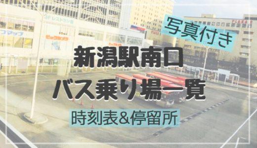 【写真付き】新潟駅南口 バス乗り場一覧【時刻表】
