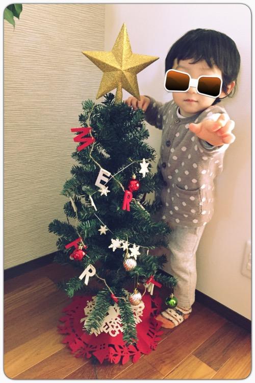 ニトリのクリスマスツリーを飾りました(゚▽^*)ノ⌒☆