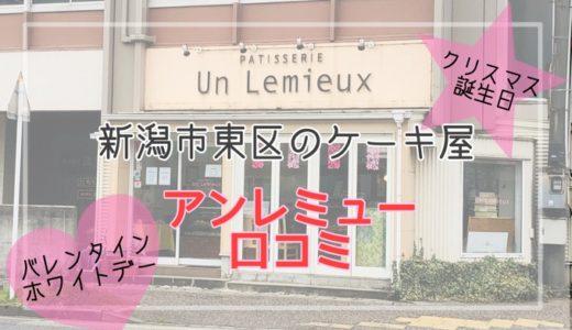 新潟市東区*アンレミュー(un-lemieux)の口コミ*2歳の誕生日ケーキ