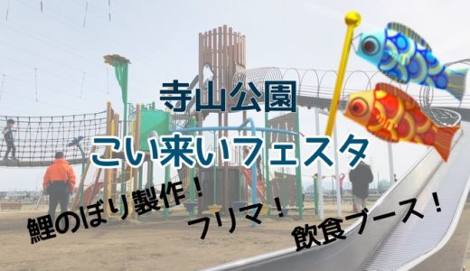 寺山公園でこいのぼりイベント「寺山こい来いフェスタ」子連れで遊べる!