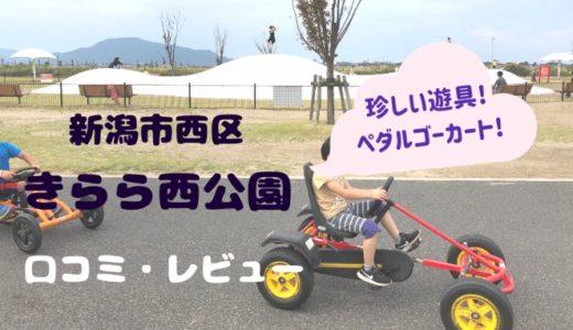 新潟市西区*きらら西公園の口コミ ペダルゴーカートや変わった遊具多め♪