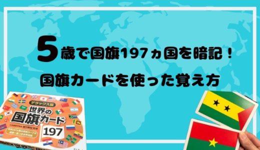 「デラックス版 世界の国旗カード197」5歳で197ヵ国暗記!子供が国名を覚える方法!